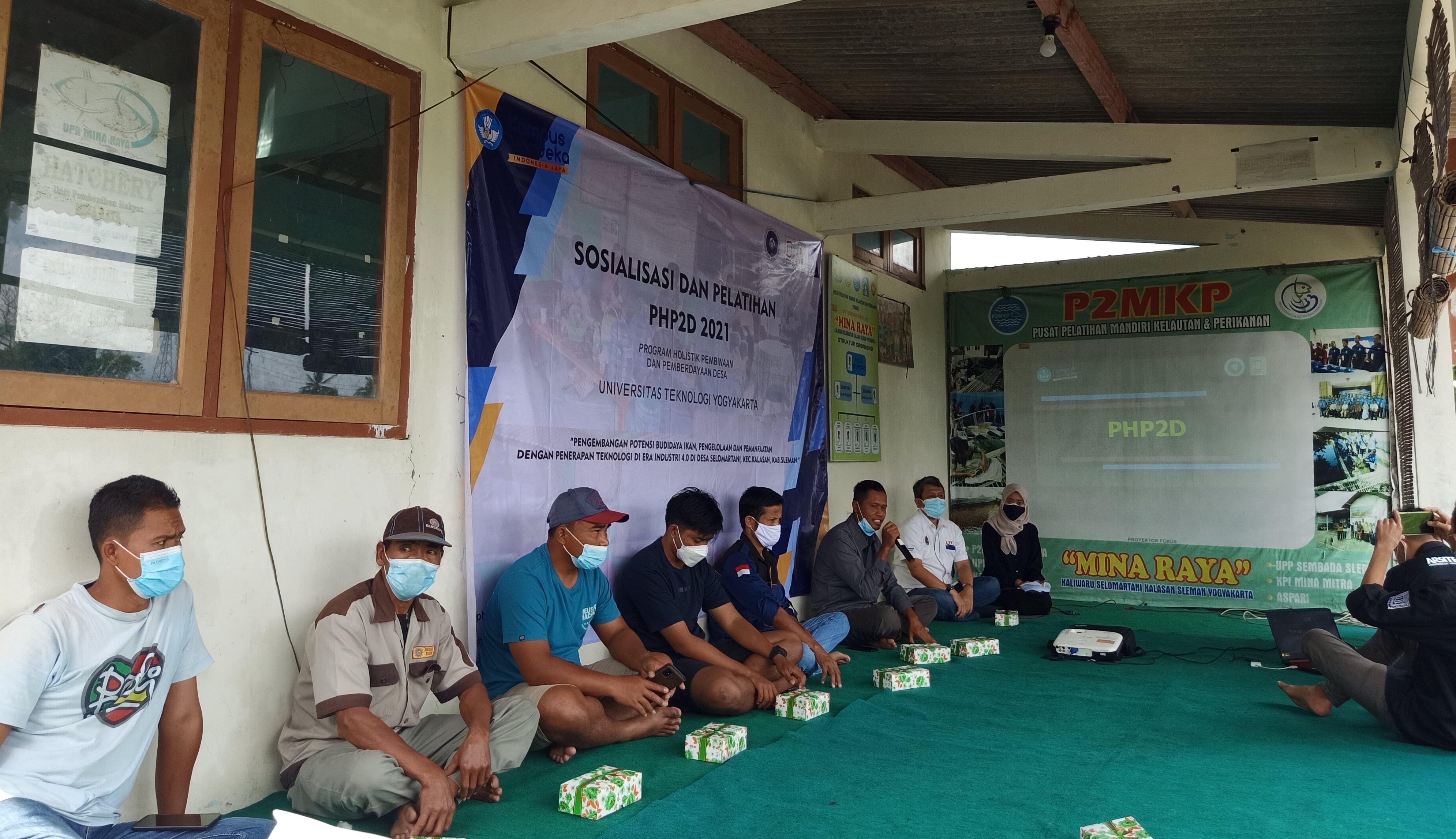 Dalam Rangka Implementasikan Progam Hibah PHP2D, Himpunan Mahasiswa Arsitektur UTY Mulai Lakukan Sosialisasi Kepada Warga Desa Selomartani