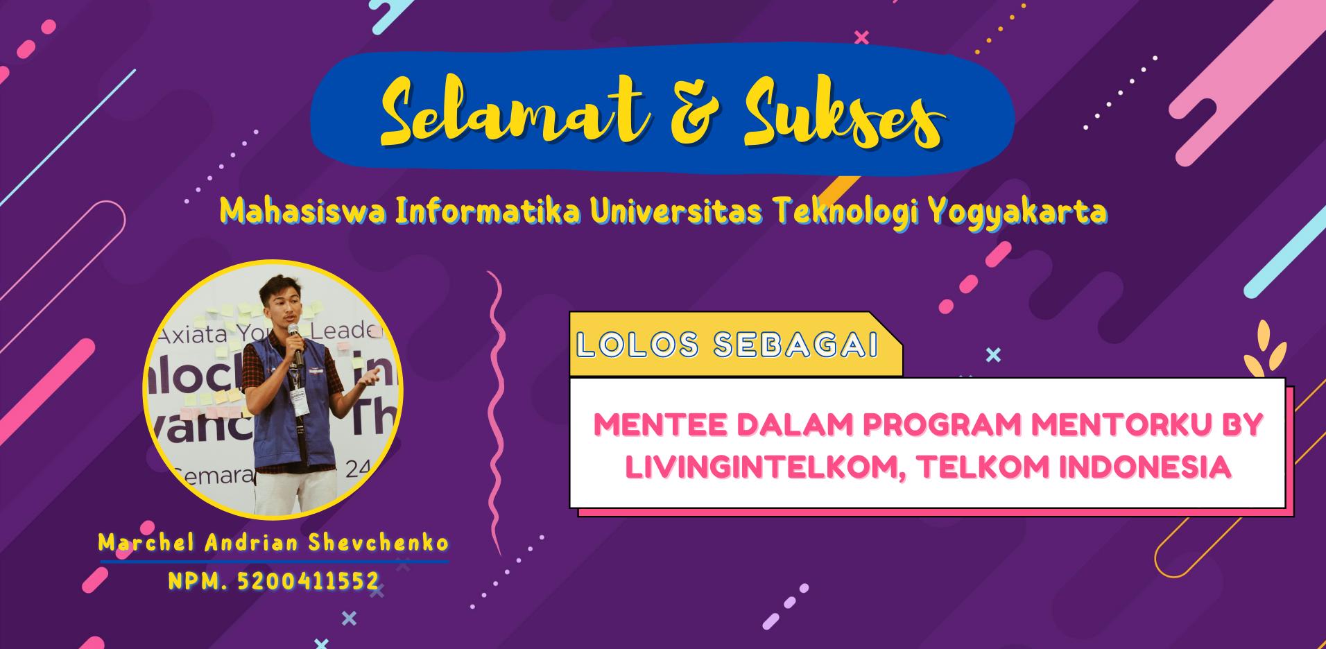 Mahasiswa UTY Terpilih Ikuti Program MentorKU dari Telkom Indonesia